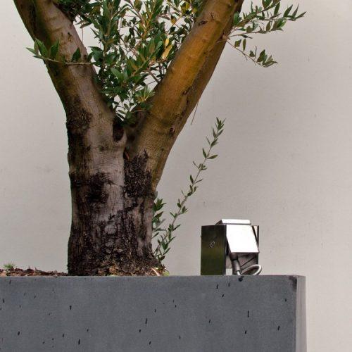 Royal Botania q-bic wall rvs verstelbare spot roestvrijstaal