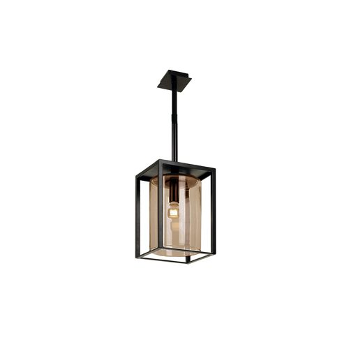 Dome ceiling short amber glass royal botania plafondlamp
