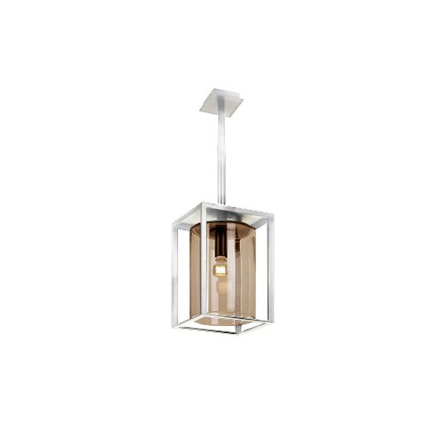 Dome wit ceiling short amber glass royal botania plafondlamp